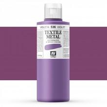 Vallejo : Textile Paint : 200ml : Metallic Violet Pearl