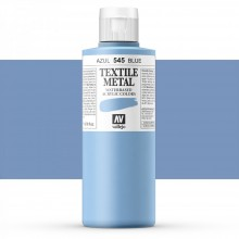 Vallejo : Textile Paint : 200ml : Metallic Blue Pearl