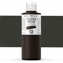 Vallejo : Textile Paint : 200ml : Metallic Black Pearl