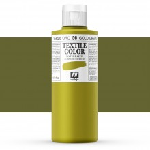 Vallejo : Textile Paint : 200ml : Gold Green