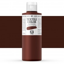 Vallejo : Textile Paint : 200ml : Dark Brown
