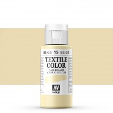 Vallejo : Textile Paint : 60ml : Beige