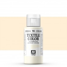 Vallejo : Textile Paint : 60ml : Cream