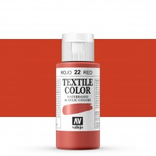 Vallejo : Textile Paint : 60ml : Red