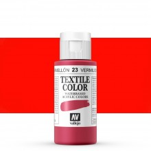 Vallejo : Textile Paint : 60ml : Vermillion