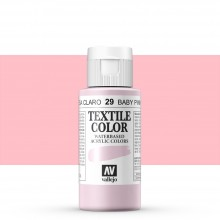 Vallejo : Textile Paint : 60ml : Baby Pink
