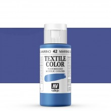 Vallejo : Textile Paint : 60ml : Marine Blue