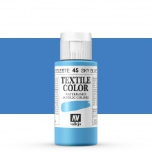 Vallejo : Textile Paint : 60ml : Sky Blue