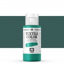Vallejo : Textile Paint : 60ml : Turquoise (Duck Blue)