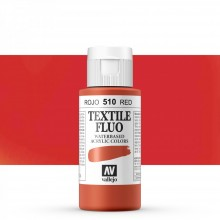 Vallejo : Textile Paint : 60ml : Fluorescent Red