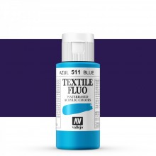 Vallejo : Textile Paint : 60ml : Fluorescent Blue