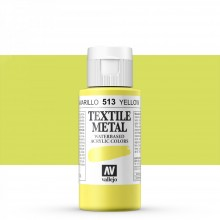 Vallejo : Textile Paint : 60ml : Metallic Yellow Pearl