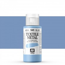 Vallejo : Textile Paint : 60ml : Metallic Blue Pearl