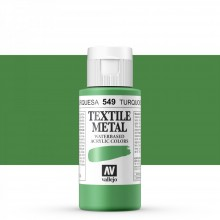 Vallejo : Textile Paint : 60ml : Metallic Turquoise Pearl