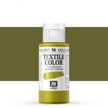Vallejo : Textile Paint : 60ml : Gold Green