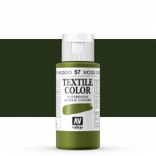 Vallejo : Textile Paint : 60ml : Moss Green