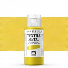 Vallejo : Textile Paint : 60ml : Metallic Gold