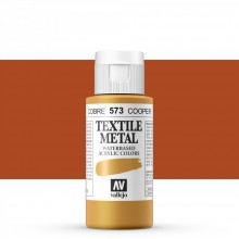 Vallejo : Textile Paint : 60ml : Metallic Copper