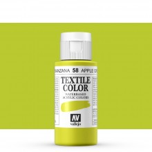 Vallejo : Textile Paint : 60ml : Apple Green