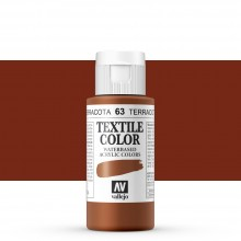 Vallejo : Textile Paint : 60ml : Indian Red