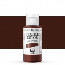 Vallejo : Textile Paint : 60ml : Velvet Brown
