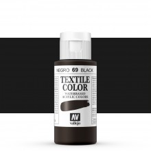 Vallejo : Textile Paint : 60ml : Black