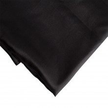 Silk Cloth : 1 Metre Folded : Black Pongee 5 (floaty lightweight silk) (90cm width) (5 momme weight is 22gsm)