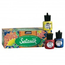 Pebeo Setasilk SCHOOL PACK - 10 ASST 45ml COLOURS