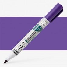 Pebeo : Setaskrib+ Fabric Marker Brush Tip : Violet (406)