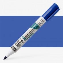 Pebeo Setaskrib+ Fabric Marker Brush Tip Blue