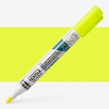 Pebeo Setaskrib+ Fabric Marker Brush Tip Fluorescent Yellow