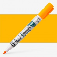 Pebeo Setaskrib+ Fabric Marker Brush Tip Fluorescent Orange