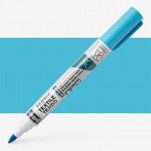 Pebeo Setaskrib+ Fabric Marker Brush Tip Fluorescent Blue