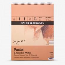 Daler Rowney : Ingres : Pastel Paper : 160gsm : 24 Sheets : 12x16in : White