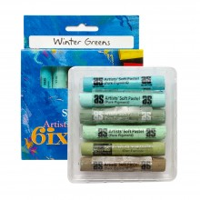 Art Spectrum : Soft Pastel : Set of 6 : Winter Greens