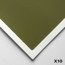 Art Spectrum : Colourfix Smooth : Pastel Paper : 50x70cm : Olive Green : Pack of 10