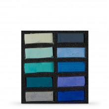 Art Spectrum : Extra Soft Square Pastel : Set Of 10 : Turquoise & Blues