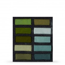 Art Spectrum : Extra Soft Square Pastel : Set Of 10 : Greens