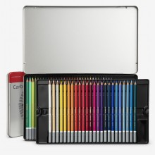 Swan Stabilo : Carbothello : Pastel Pencil : Metal Tin Set of 60 : Plus Sharpener & Eraser
