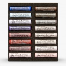 Daler Rowney : Artists' Soft Pastel : Set of 16 : Warm Selection
