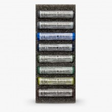 Daler Rowney : Artists' Soft Pastel : Set of 8 : Cool Selection