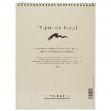 Sennelier : Soft Pastel Paper Pad 32x24cm - 25 sheets - 130gsm grey grained felt paper with interleaved