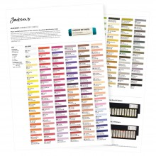 Jacksons : Handmade Soft Pastels : Printed Colour Chart