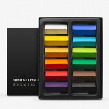 Jackson's : Square Soft Pastels : Half Stick : Set of 12