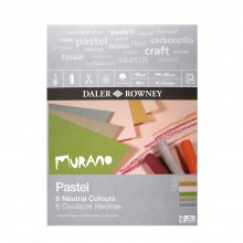 Daler Rowney : Murano : Pastel Pad : 12x16in : Neutral Colours