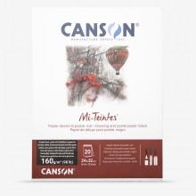 Canson : Mi-Teintes : Pastel Pad : Spiral : 24x32cm : 16 Sheets : Black