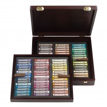 Talens : Rembrandt soft pastel : 90 Portrait Wooden Box Set