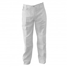RTF GRANVILLE : WHITE PAINTERS TROUSER : 46 IN