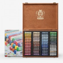 Schmincke Pastels : Set of 60 Sticks in Wooden Case : New Assortment