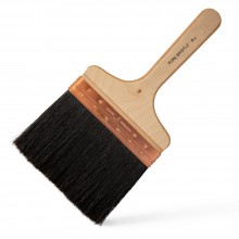 RTF Granville : Copper Bound Black Bristle Wall Brush : 7 inch